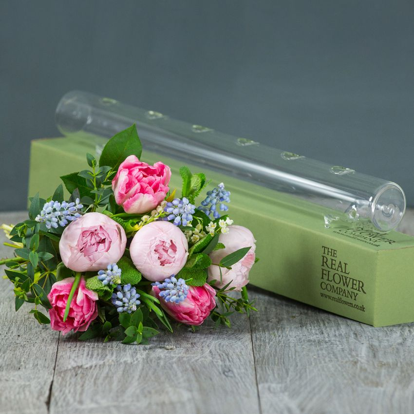 Spring Glass Flower Tube & Posy