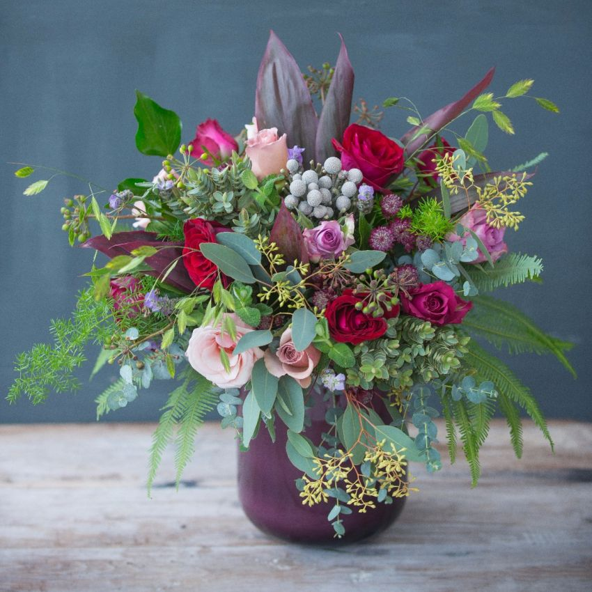 Red Antique & Plum Bouquet