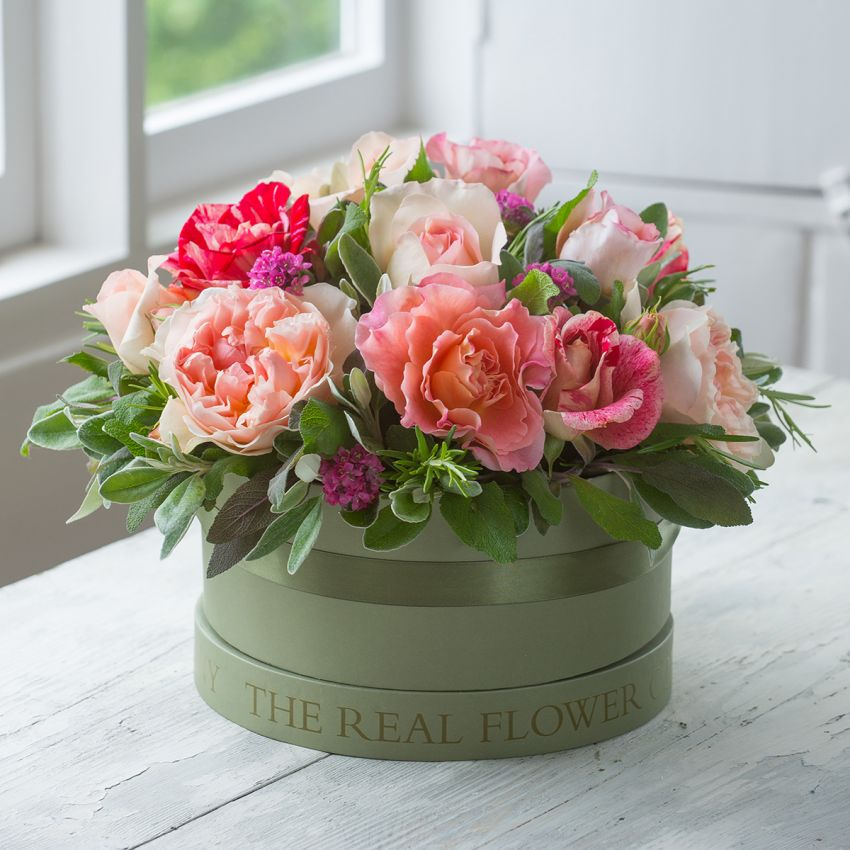 Summer Hat Box Arrangement