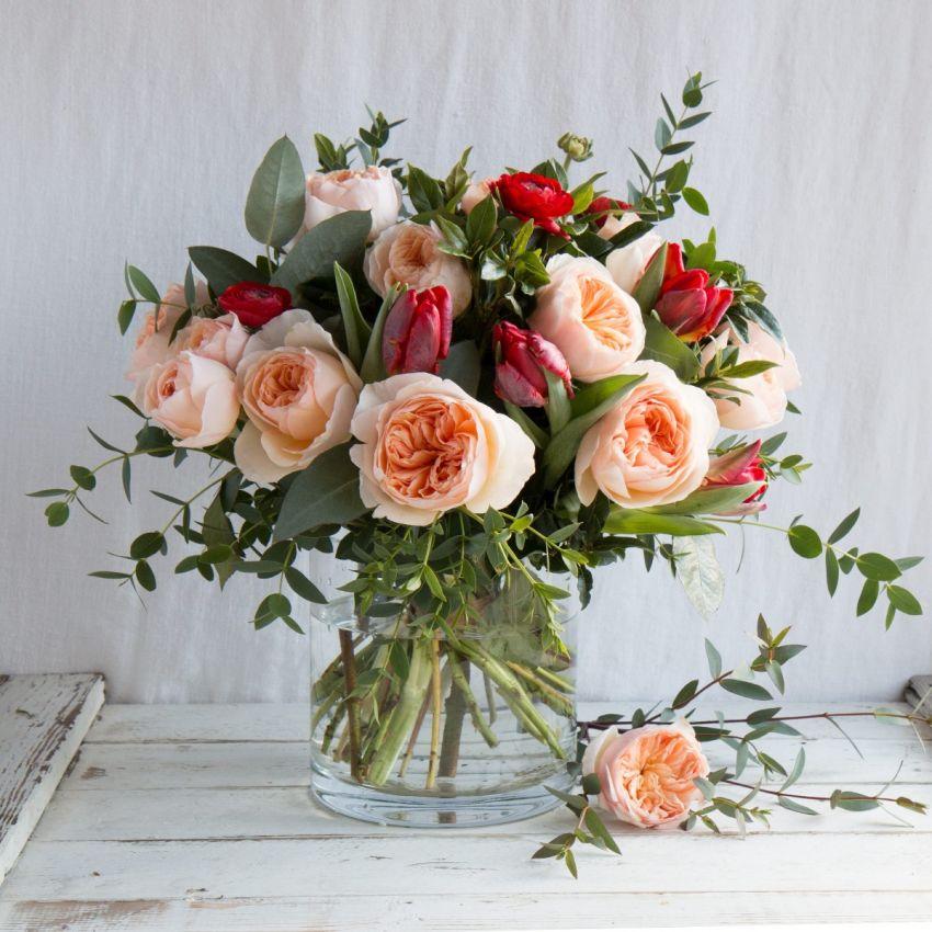 David Austin Valentine's Juliet Bouquet