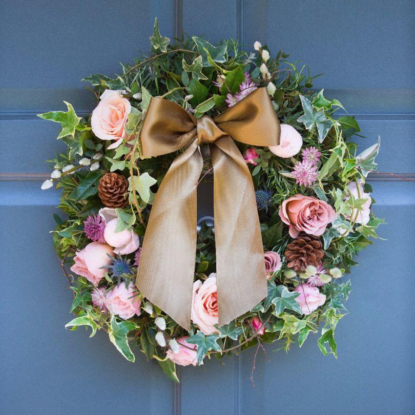 Woodland Antique Door Wreath