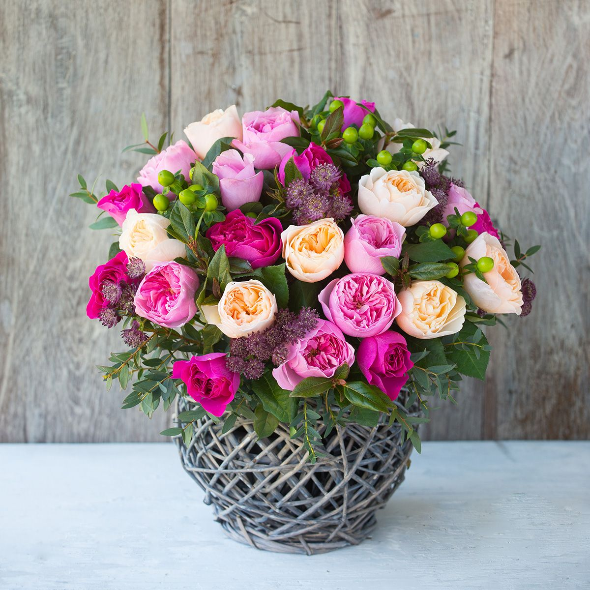 David Austin Mixed Rose Bouquet | The Real Flower Company