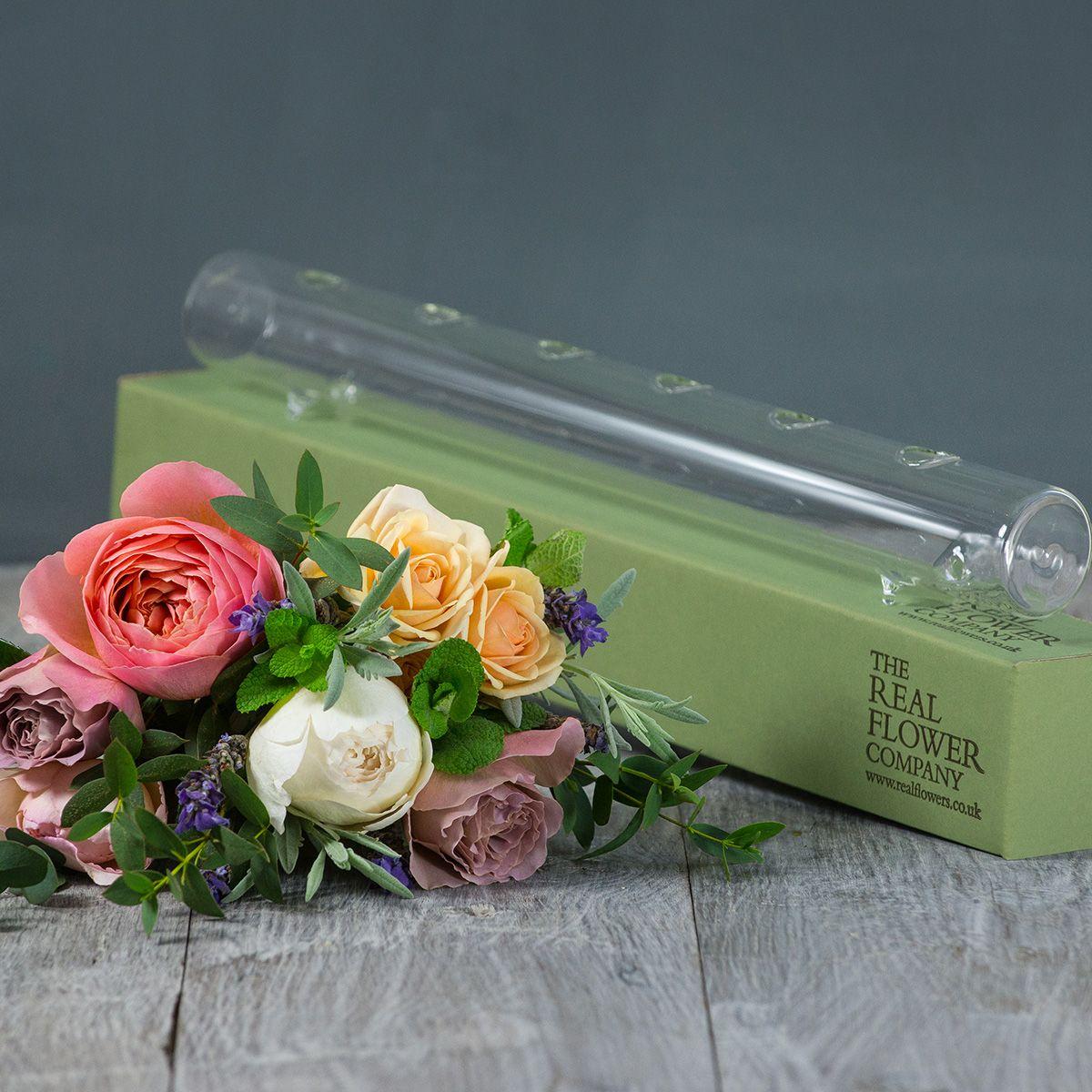 Glass Flower Tube & Posy