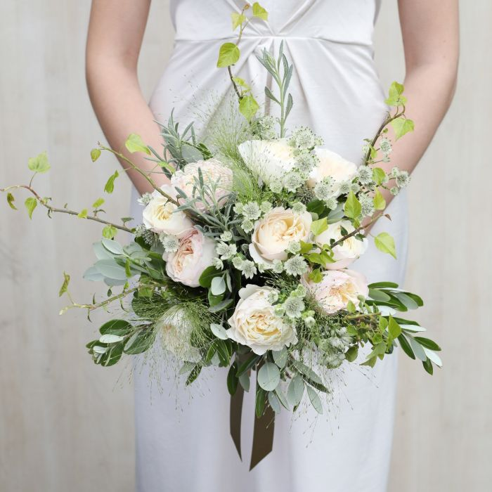 David Austin Simply Keira Bridal Bouquet Wedding Flowers The