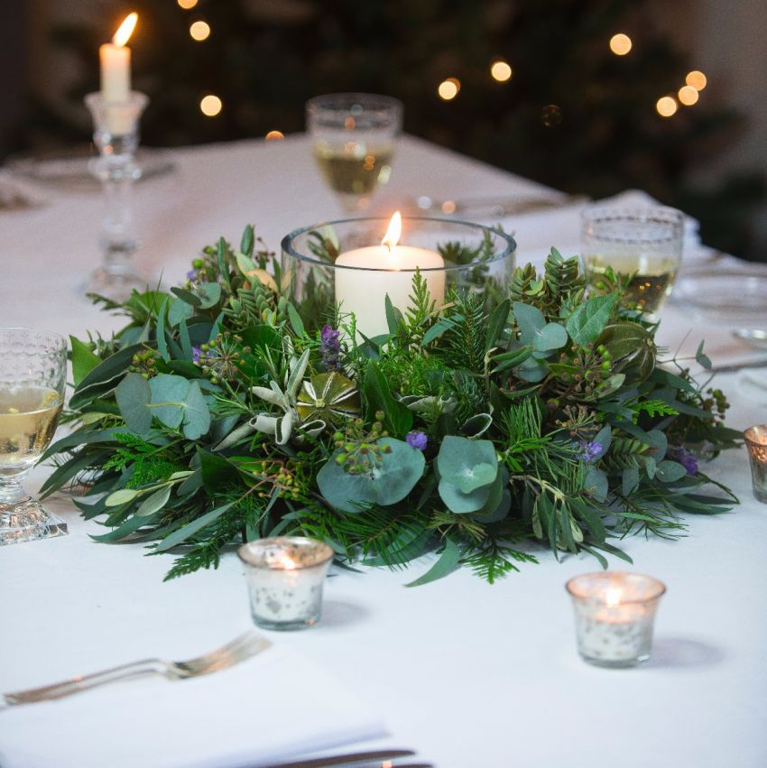 Lavender & Lime Table Wreath