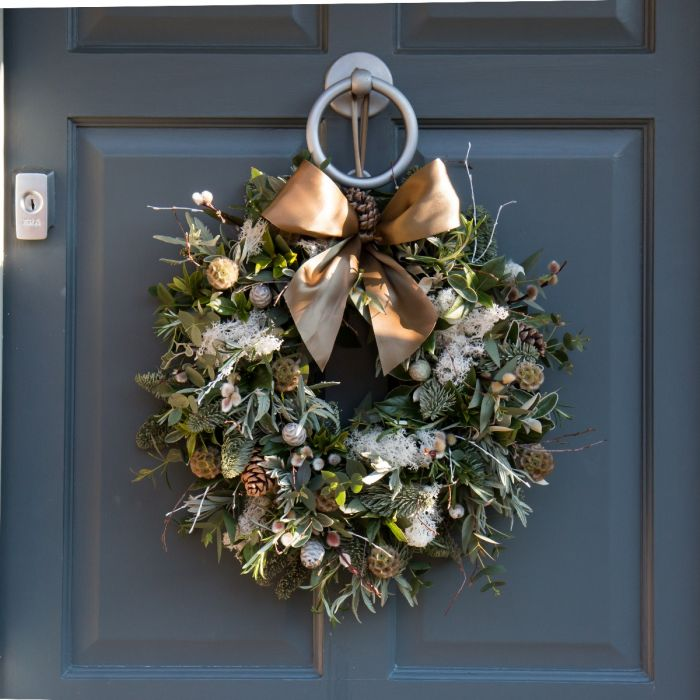 Fresh Christmas Wreaths.Nordic Foliage Door Wreath