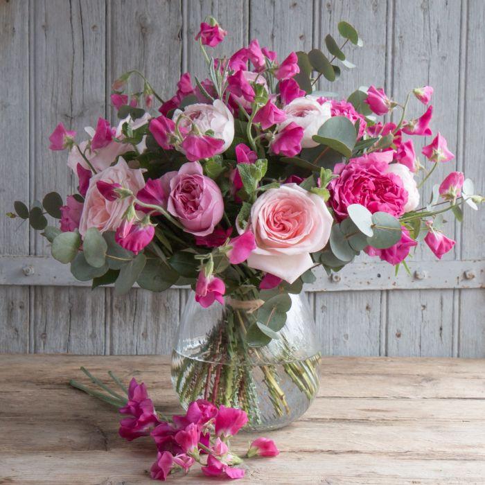 Prettiest Pink Sweet Pea Bouquet Sweet Peas The Real Flower Company