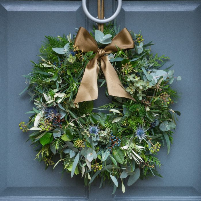 Fresh Christmas Wreaths.Thistle Berry Door Wreath
