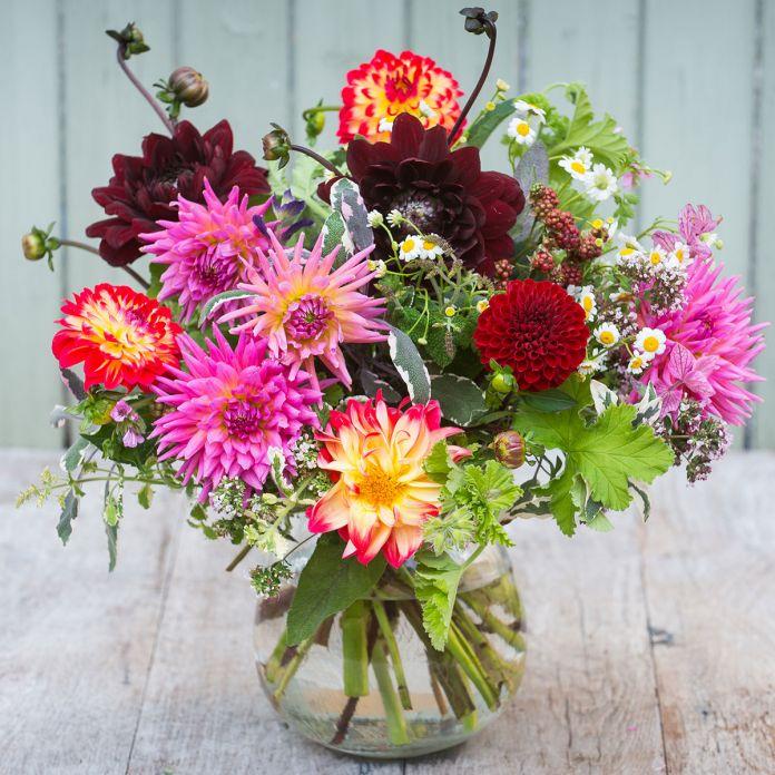 Dahlia & Herb Bouquet