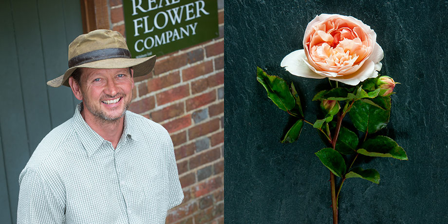 Rob for British Flower Week with his favourite English rose Evelyn