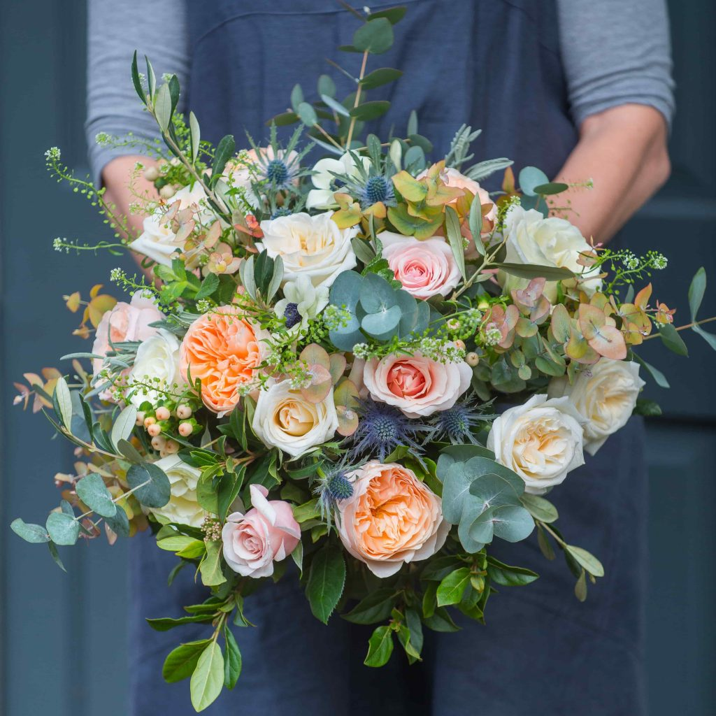 why buy flowers at christmas - Spiced Peach Bouquet