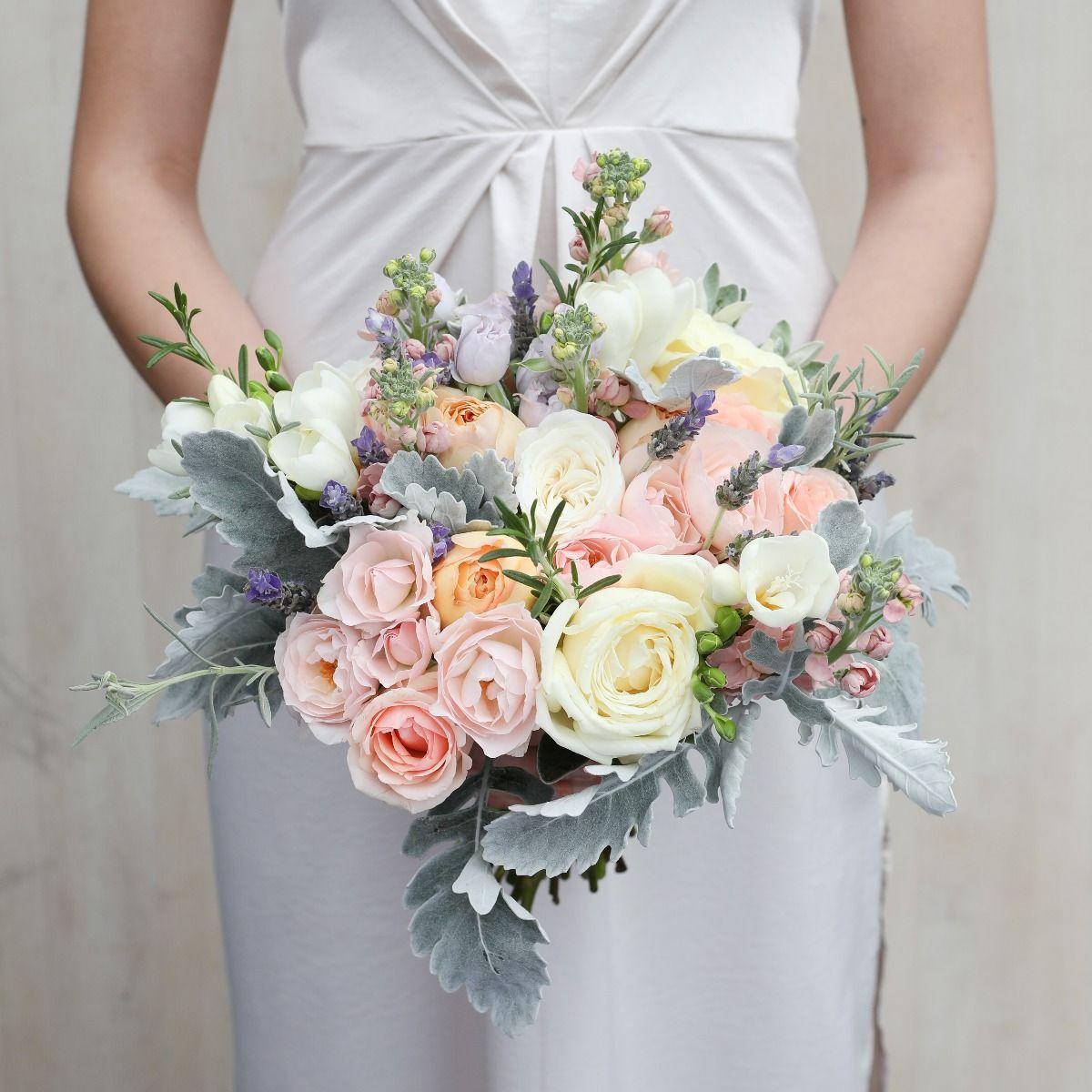 sugared almond bridal bouquet